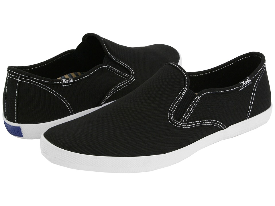 Keds - Champion Slip-On - Canvas (Black) Men's Shoes