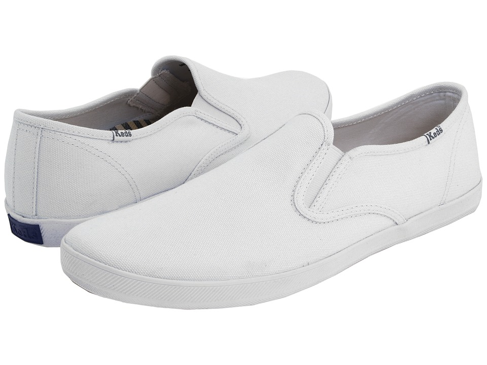Keds - Champion Slip-On - Canvas (White) Men's Shoes