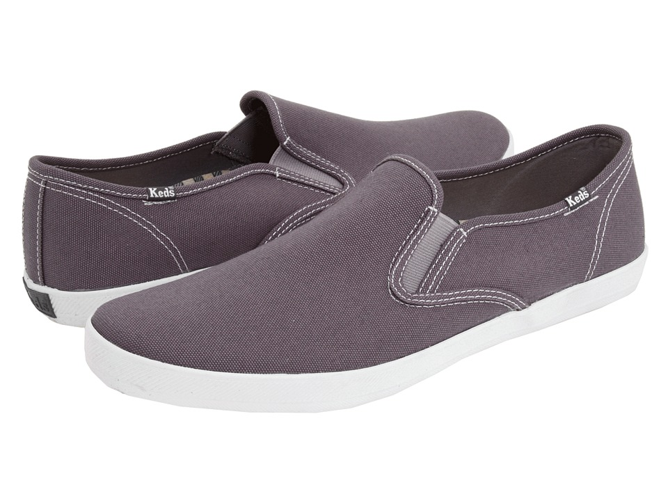 Keds - Champion Slip-On - Canvas (Neutral Grey) Men's Shoes