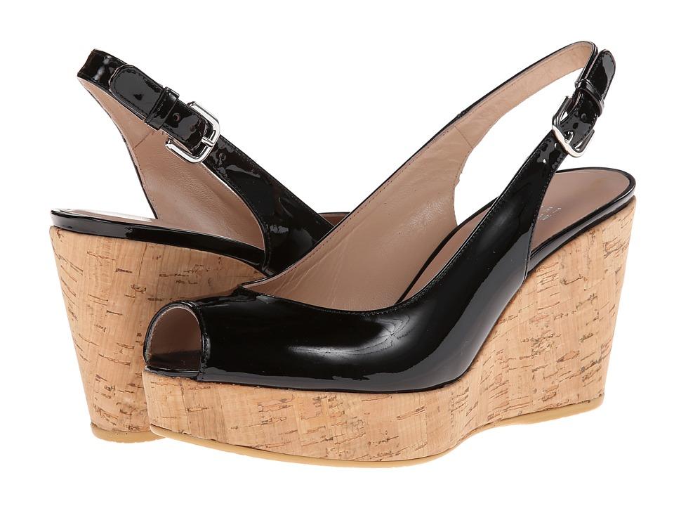 Stuart Weitzman - Jean (Black Patent) Women's Shoes
