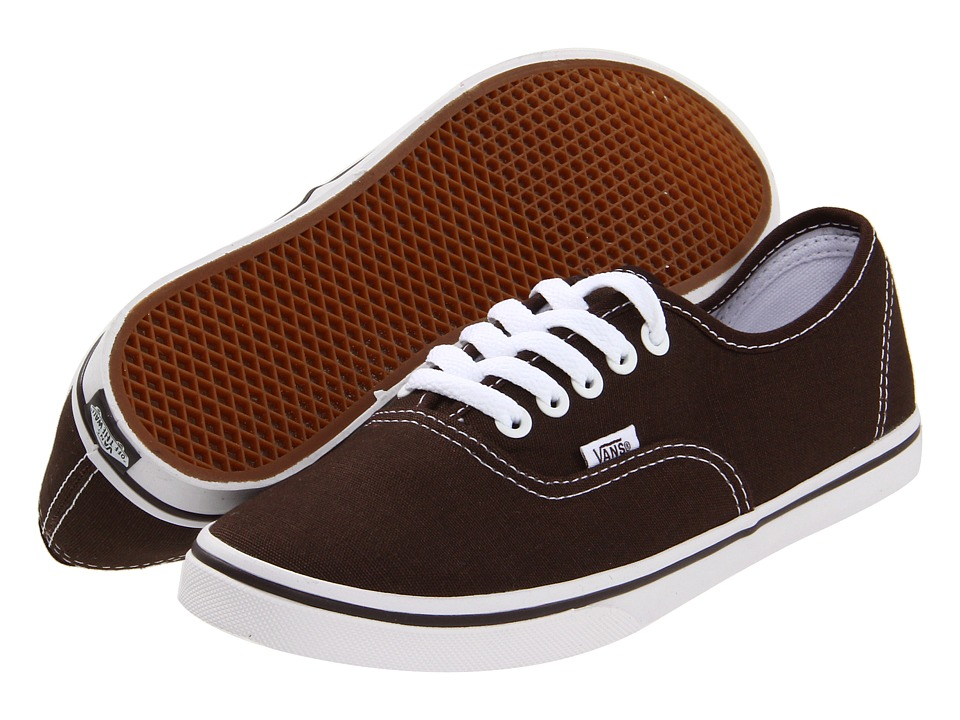 Vans - Authentic Lo Pro (Espresso/True White) Skate Shoes