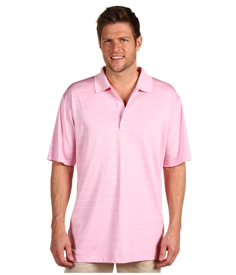Greg Norman - Performance Micro Pique Stripe Polo (Sea Shell) Men's Short Sleeve Knit