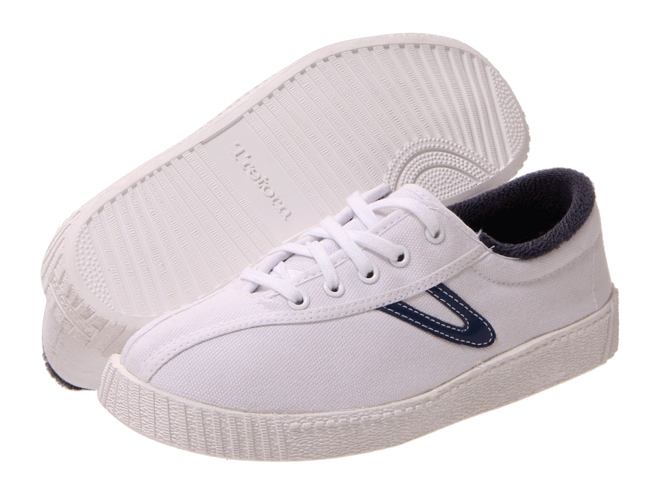 Tretorn - Nylite Canvas SS '11 (Little Kid/Big Kid) (White/Estate Blue) Shoes