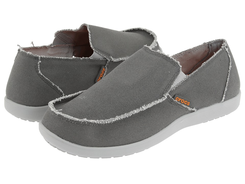 Crocs - Santa Cruz (Light Gray/Charcoal) Men's Slip on Shoes