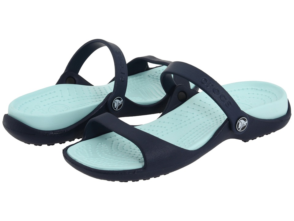 Crocs - Cleo (Navy/Seafoam) Women's Sandals
