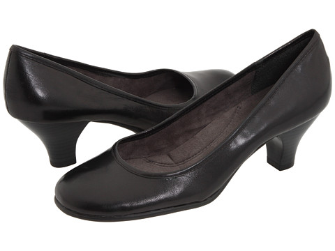 Aerosoles - Wise Guy (Black Leather) Women's 1-2 inch heel Shoes