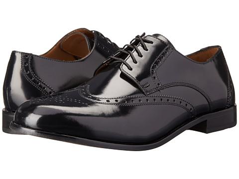 Florsheim - Brookside (Black) Men's Lace Up Wing Tip Shoes