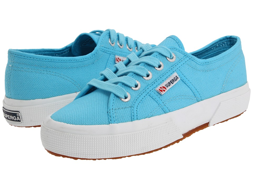 Superga Kids 2750 JCOT Classic (Toddler/Little Kid) (Turquoise SP 11) Girls Shoes