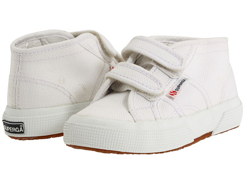 Superga Kids - 2754 JVEL Classic (Toddler/Little Kid/Big Kid) (White SP 11) Boys Shoes