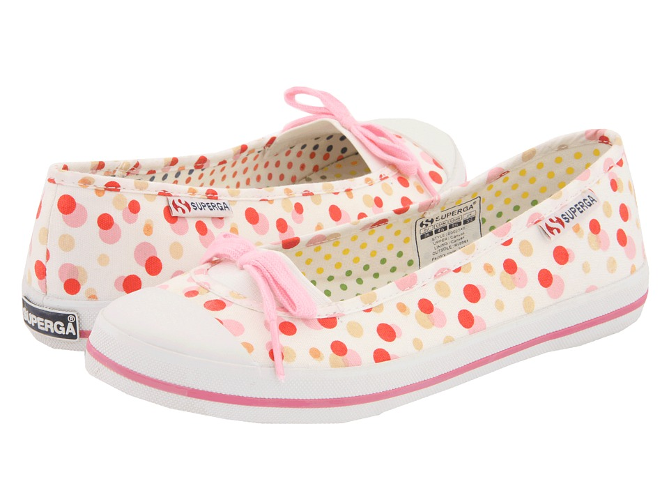 Superga Kids - 2070 Fantasy COTJ (Toddler/Little Kid) (Dots/Fuxia SP 11) Girl's Shoes