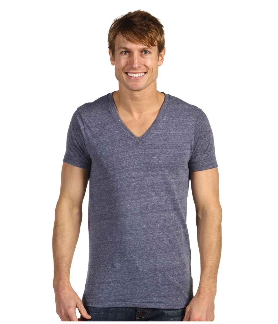 Alternative - Boss V-Neck Tee (Eco Navy) Men's Short Sleeve Pullover