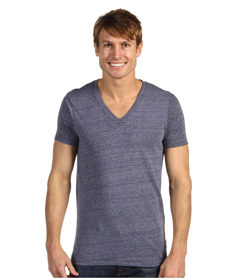 Alternative - Boss V-Neck Tee (Eco Navy) Men's Short Sleeve Pullover