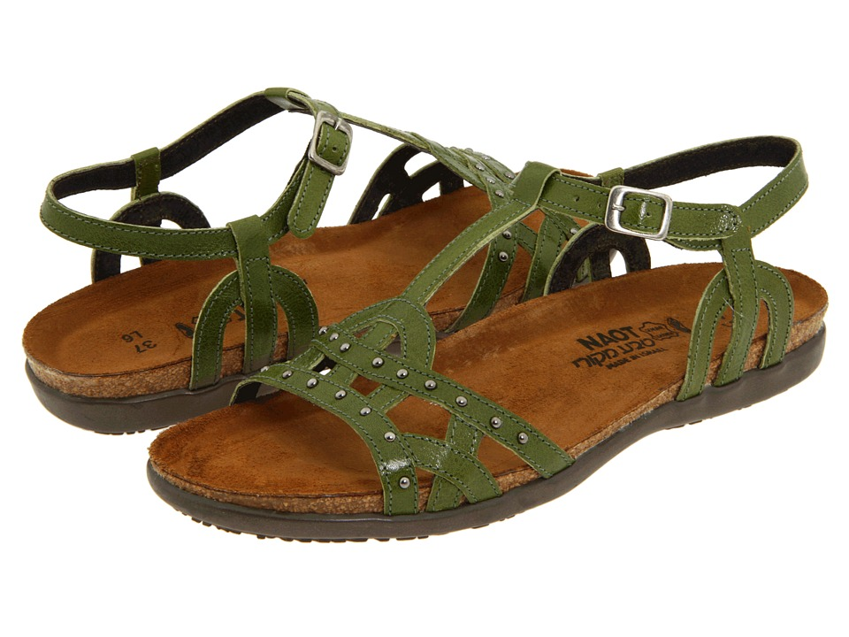Naot Footwear - Elinor (Pine Green Leather) Women