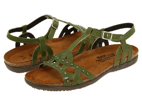 Naot Footwear - Elinor (Pine Green Leather) Women's Sandals
