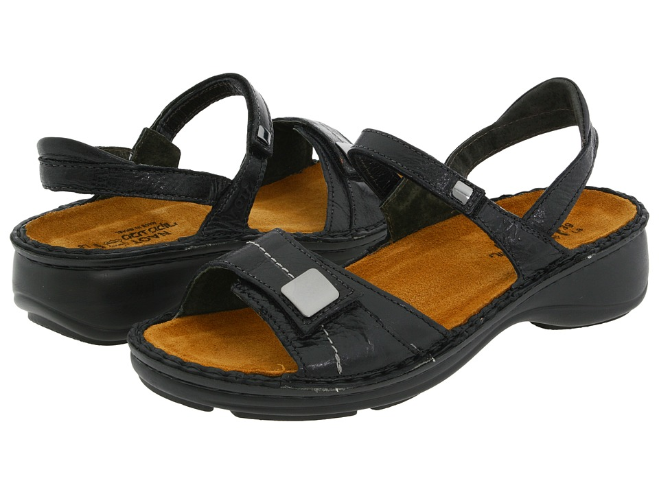 Naot Footwear - Papaya (Black Gloss Leather) Women's Sandals