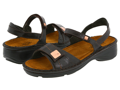 Naot Footwear - Papaya (Espresso Leather) Women's Sandals