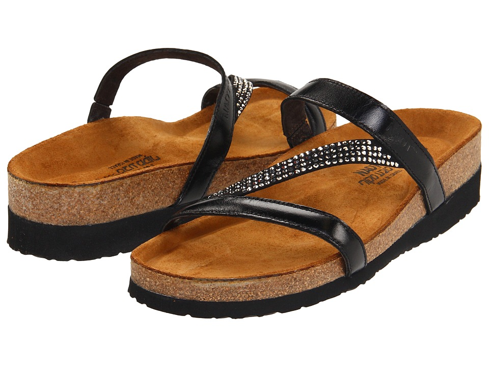 Naot Footwear - Hawaii (Black Madras Leather) Women's Sandals