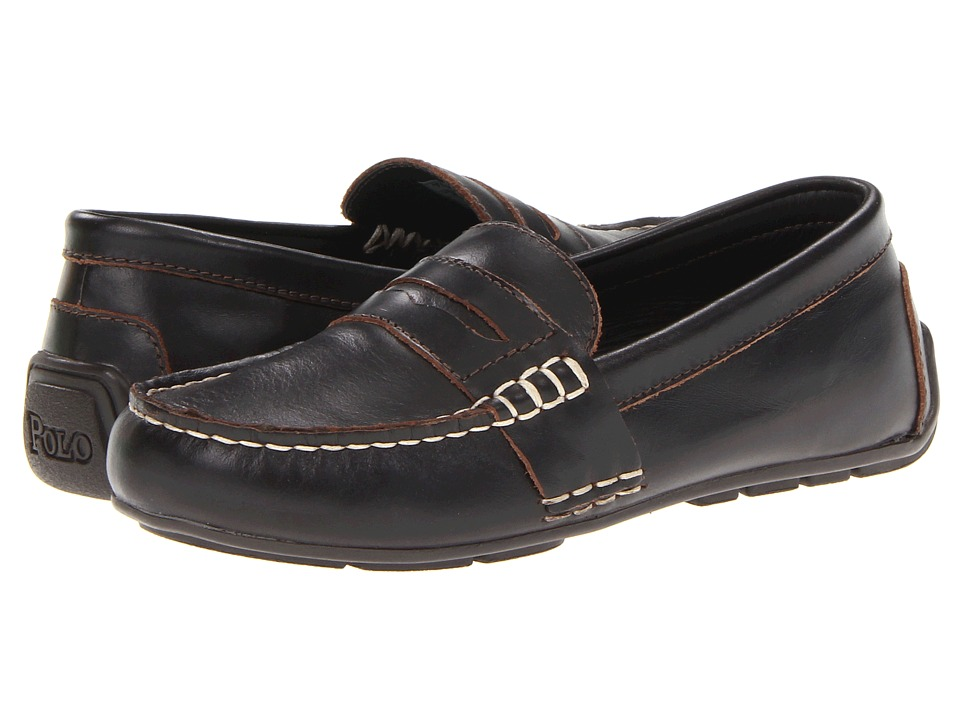 Polo Ralph Lauren Kids - Telly (Little Kid) (Chocolate Burnished Leather) Boys Shoes