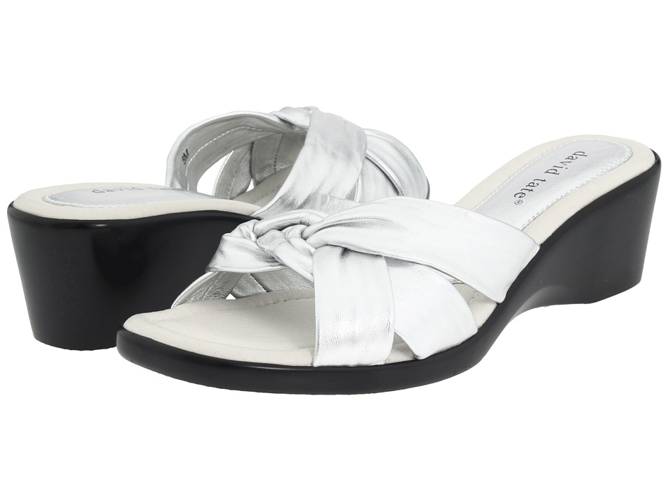 David Tate - Cabo (Silver) Women's Wedge Shoes