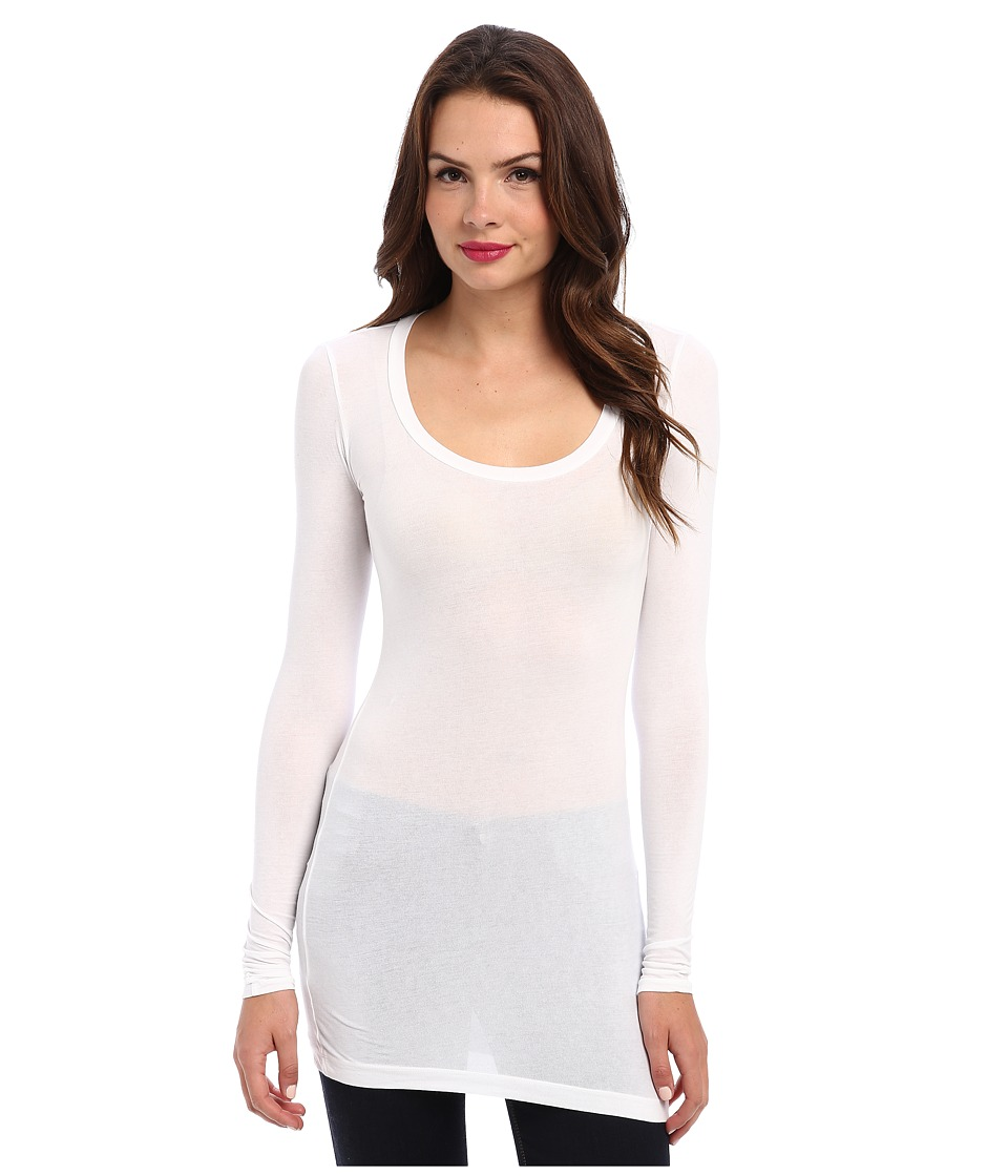 Splendid Stretch Sheer Layers Tunic (White) Women's Blouse