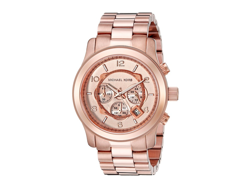 Michael Kors - MK8096 - Runway Chronograph (Rose Gold IP) Chronograph Watches