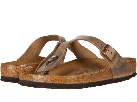 UPC 809410889355 product image for Birkenstock - Gizeh Oiled Leather  (Tobacco Oiled Leather) Women's