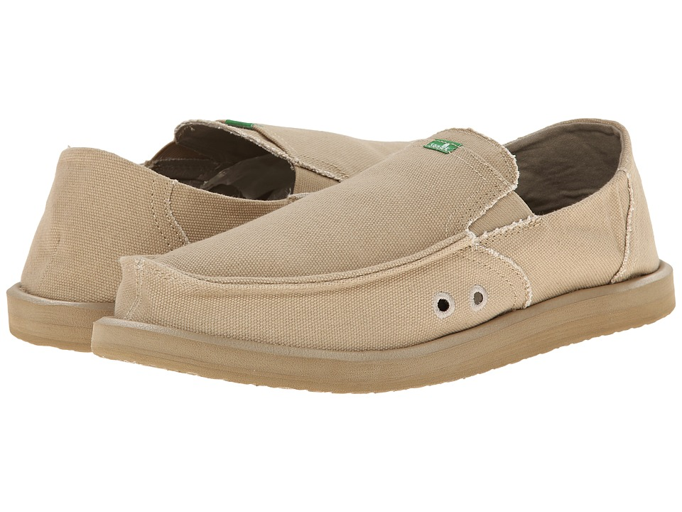 Sanuk - Pick Pocket (Tan) Men's Slip on Shoes