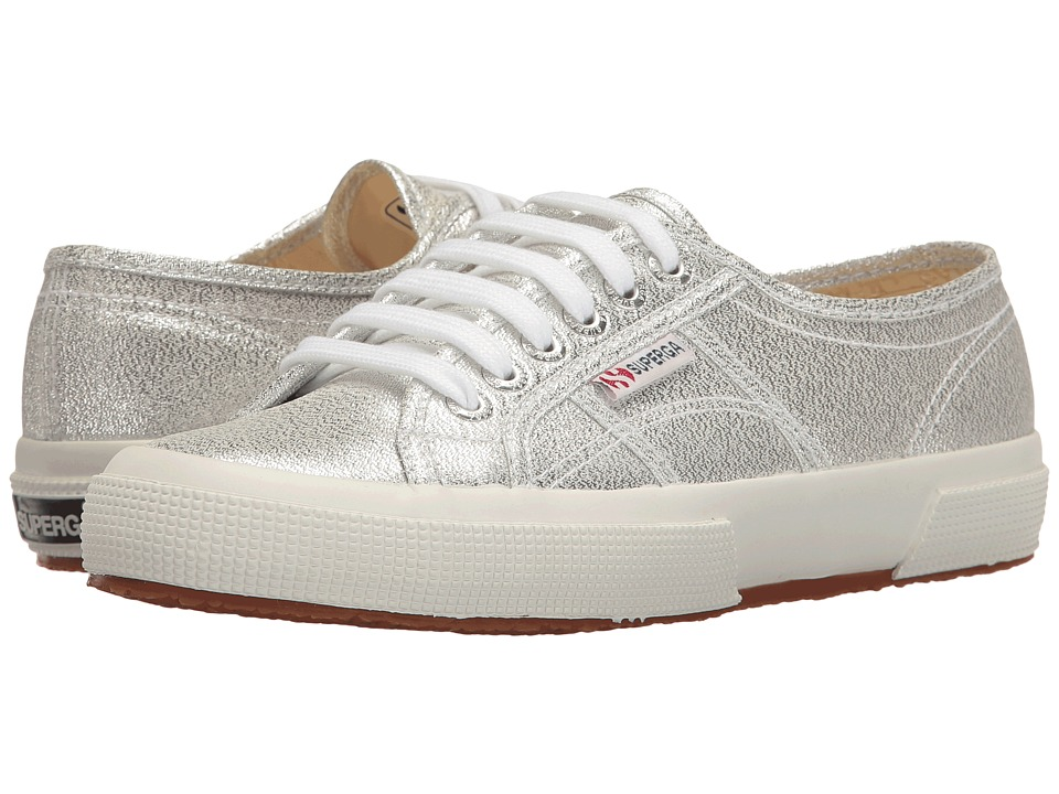 Superga - 2750 LAMEW (Silver) Women's Lace up casual Shoes
