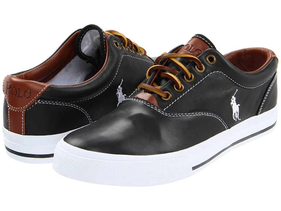 Polo Ralph Lauren - Vaughn (Black Soft Leather) Men's Lace up casual Shoes