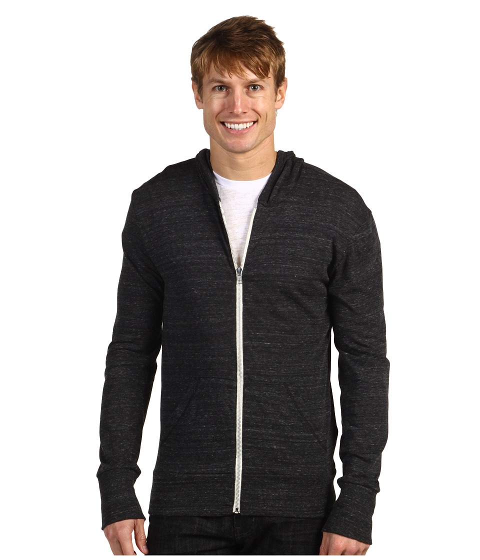 Alternative - L/S Zip Hoodie (Eco Black) Men's Sweatshirt