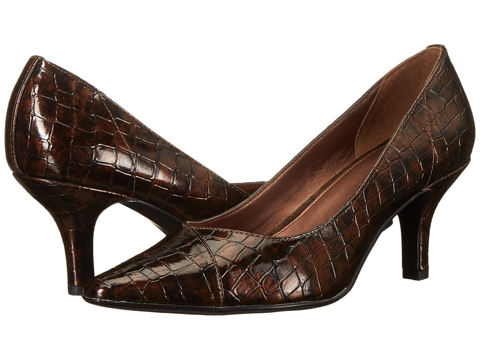 Easy Street - Chiffon (Bronze Patent Croco) High Heels