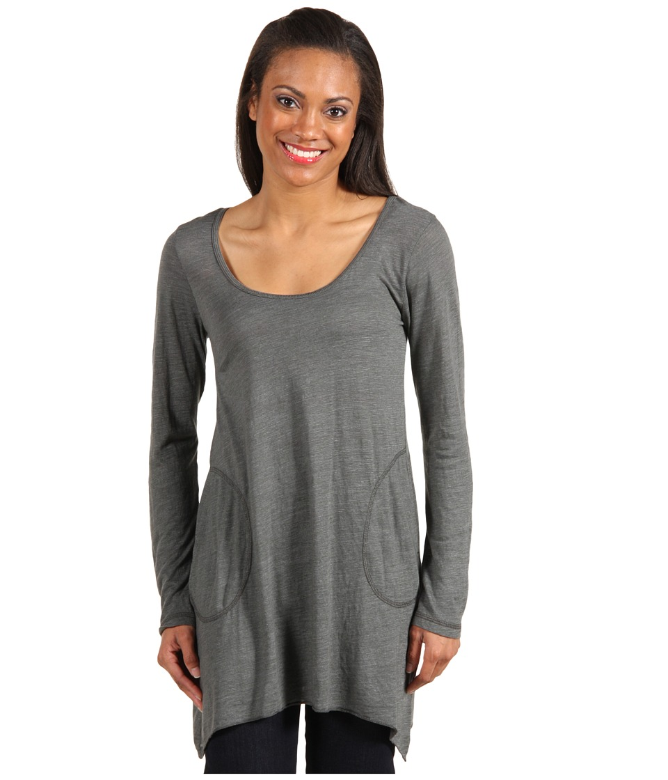 Allen Allen - L/S Angled 2-Pocket Scoop Tunic (Cilantro) Women's Long Sleeve Pullover