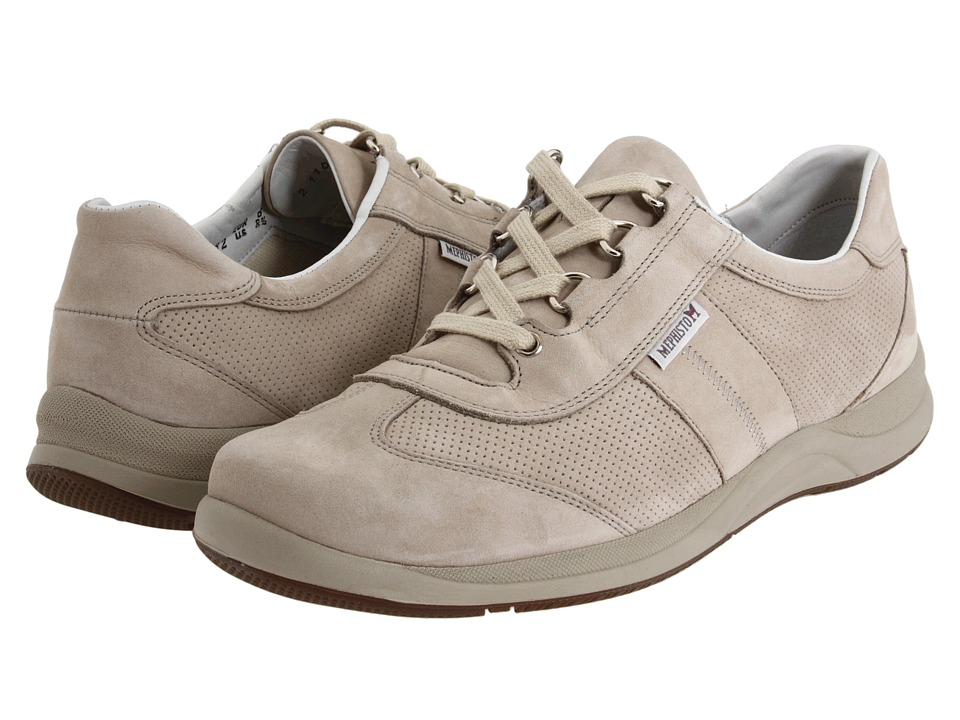 Mephisto - Laser Perfore (Stone Nubuck) Women's Lace up casual Shoes