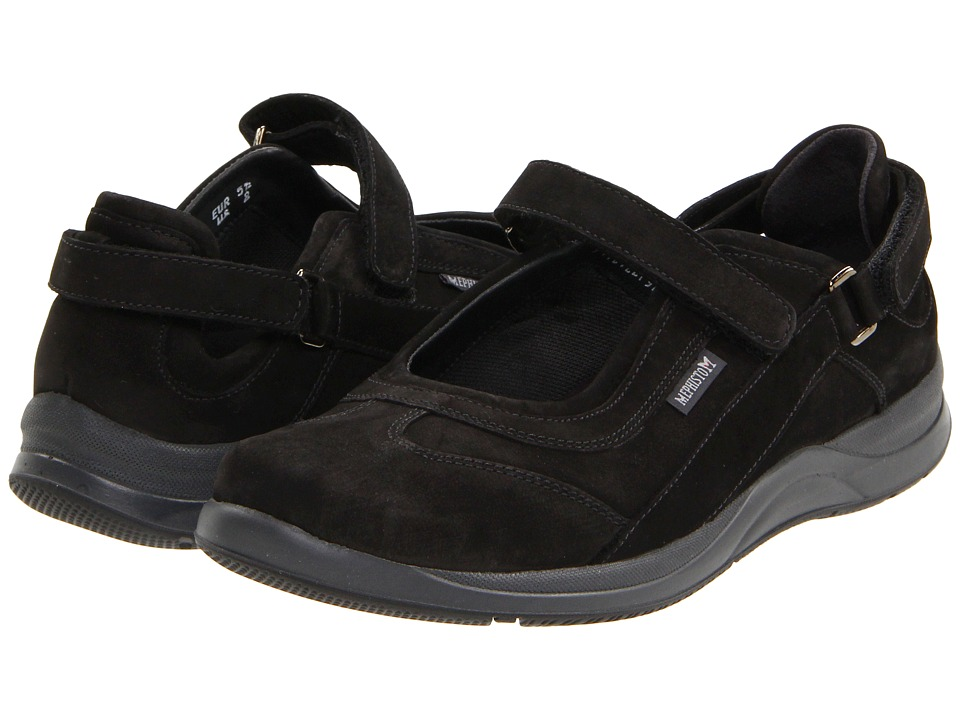 Mephisto - Lilou (Black Nubuck) Women's Maryjane Shoes