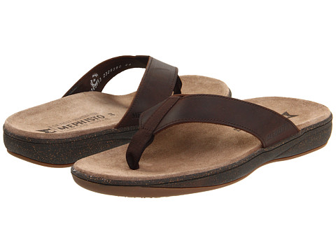 Mephisto - Sabbo (Dark Oak Scratch) Men's Sandals