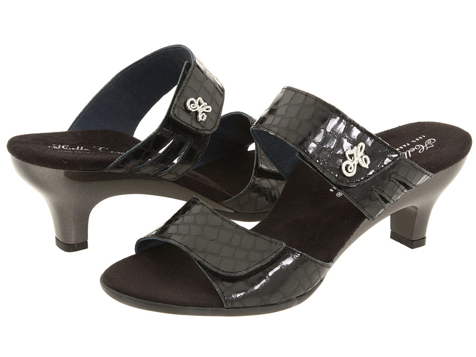 Helle Comfort - Bona (Black Giron Leather) Women's Sandals