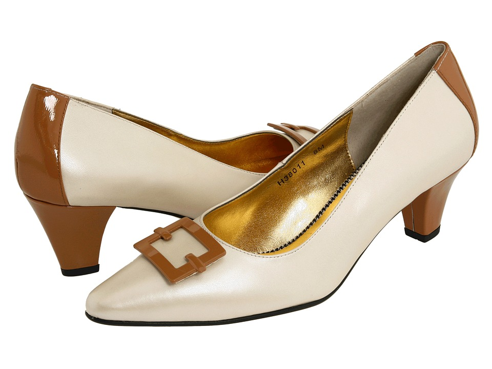 Ros Hommerson - Star (Bone Pearl Kid/Tan Soft Patent) Women's 1-2 inch heel Shoes