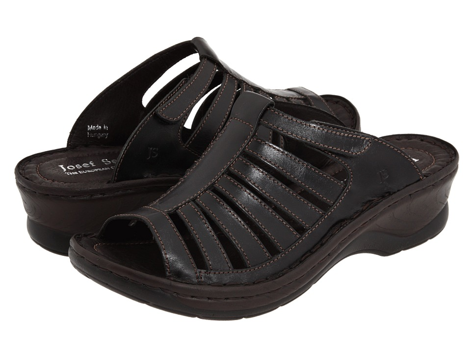 Josef Seibel - Claudia II (Roma Black Leather) Women's Sandals