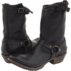 Walk Over Eliza Engineer Harness Tapered (Black) Footwear