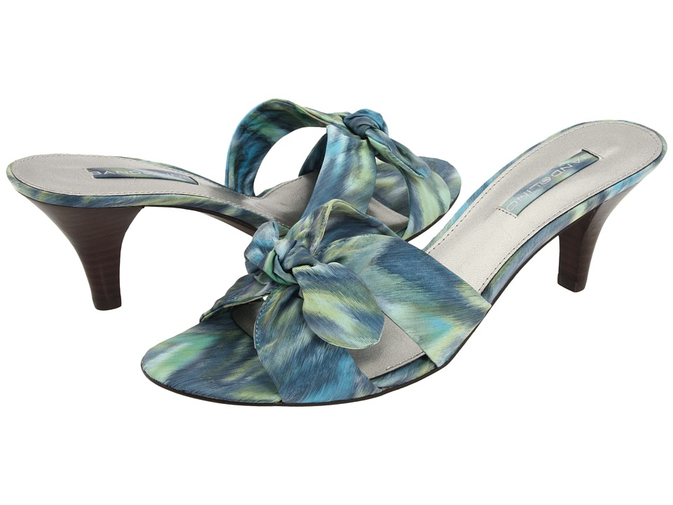 Bandolino - Quelinda (Green Multi Fabric) Women's Dress Sandals
