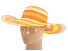 Kate Spade New York - Stripe Straw Hat (Natural/Yellow/Orange Stripe)