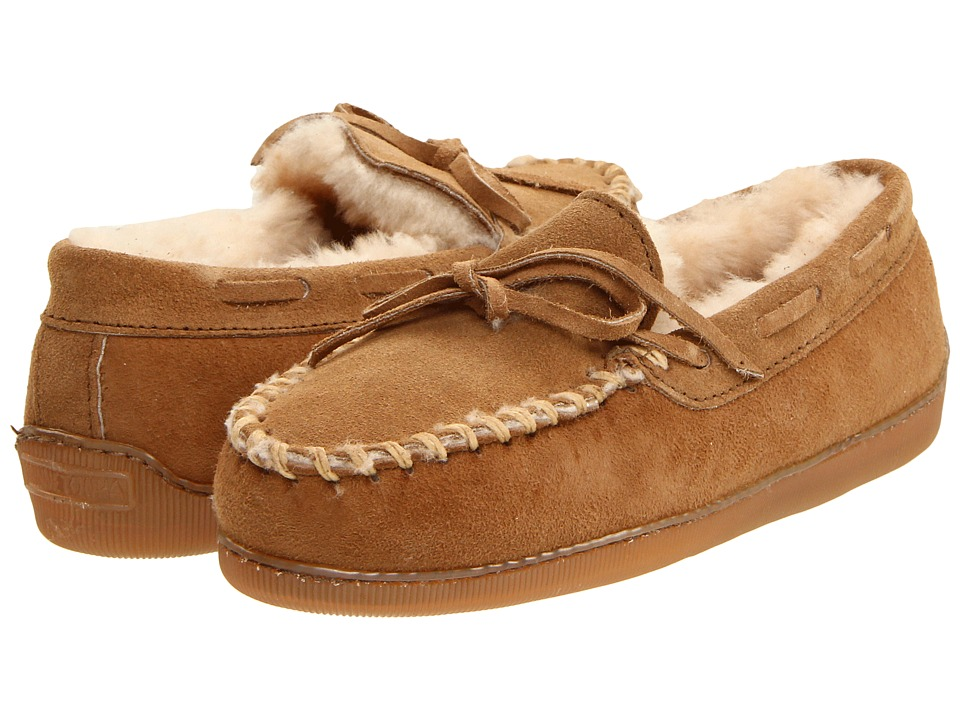 Minnetonka - Sheepskin Hardsole Moccasin (Tan) Women's Shoes