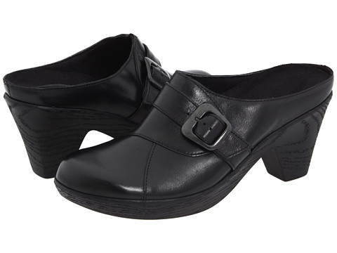 Munro American - Staci (Black Leather) Women's Clog Shoes
