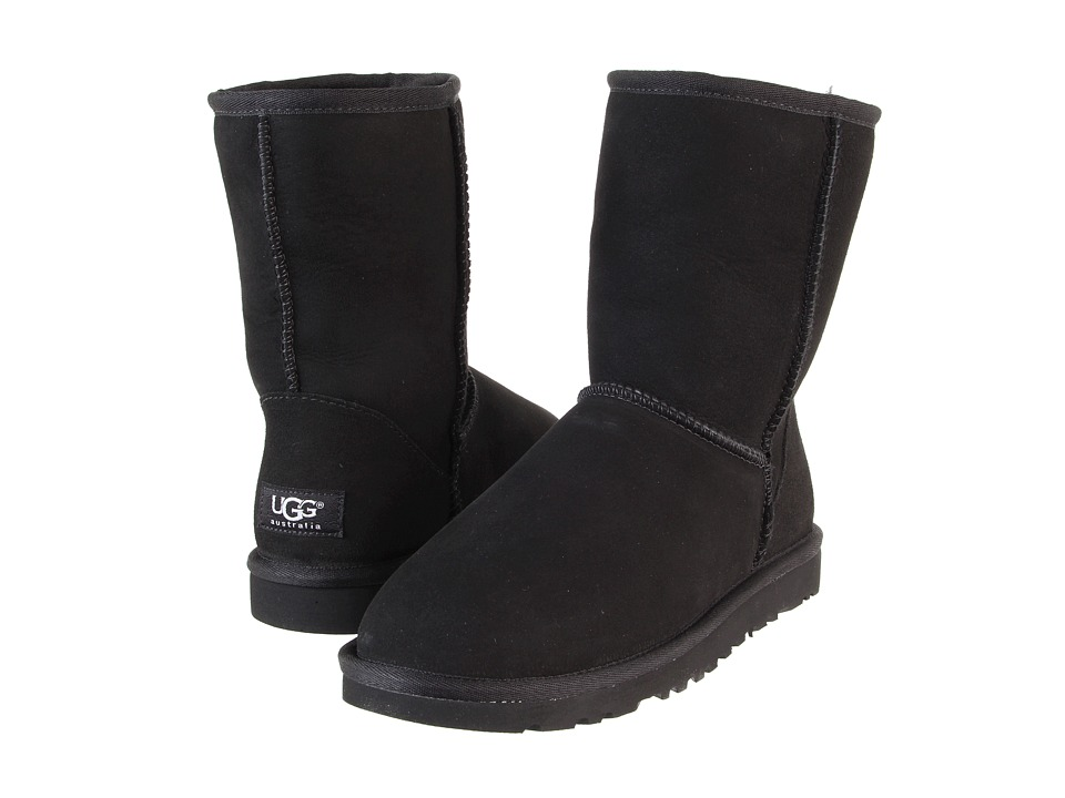 UGG Classic Short Black Womens Pull-on Boots