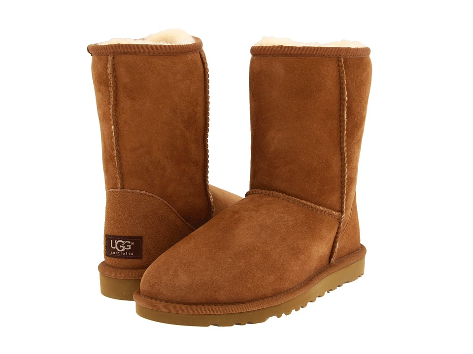 UGG Classic Short Chestnut Womens Pull-on Boots
