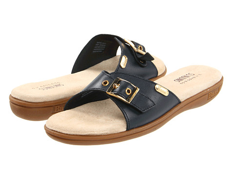 Bass - Safina (Navy Aztec Leather) Women