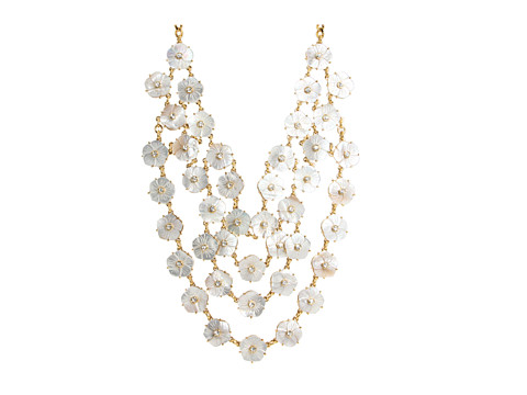 Kate Spade New York - Crystal Corsage Bib Necklace (Cream) Necklace