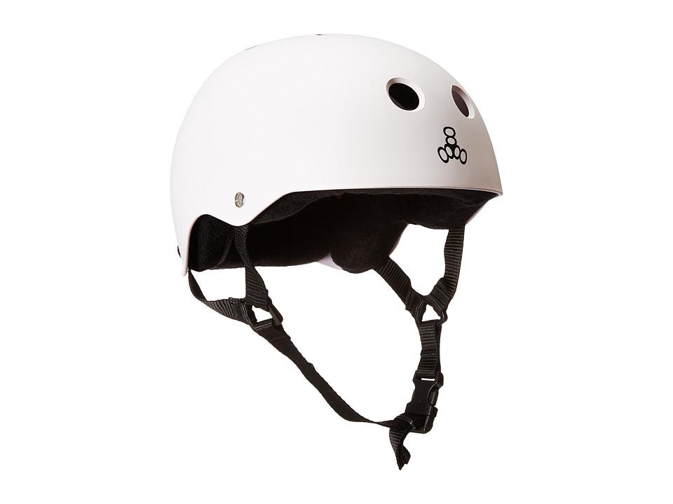 Triple Eight - Brainsaver Multi-Impact Helmet w/ Sweatsaver Liner (White Rubber) Skateboard Helmet