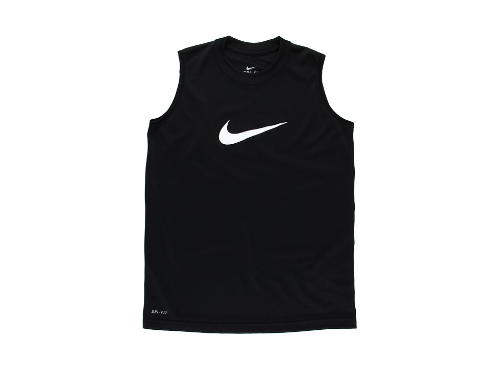 Nike Kids - Legend S/L Top (Little Kids/Big Kids) (Black/White) Boy's Sleeveless