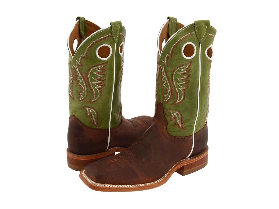 Justin - BR307 (Cognac/Green) Cowboy Boots